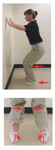 vajavaisesti avautuneen jalan tunnistus polven koukistustestillä